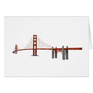 Puente Golden Gate: modelo 3D: Tarjeta De Felicitación