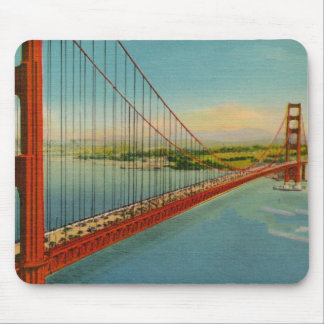 Puente Golden Gate Mousepad del vintage Alfombrilla De Ratón