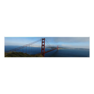 Puente Golden Gate panorámico Poster