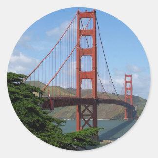 Puente Golden Gate Pegatinas Redondas
