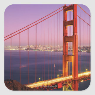 Puente Golden Gate Pegatina Cuadrada