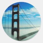 Puente Golden Gate Pegatina Redonda