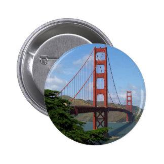 Puente Golden Gate Pin Redondo De 2 Pulgadas