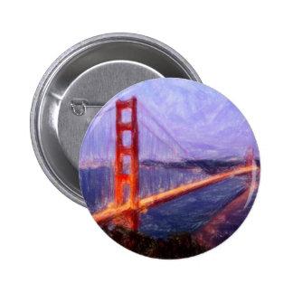 Puente Golden Gate -- pintura de las técnicas Pin
