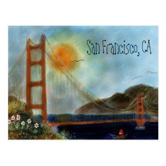 Puente Golden Gate Postcars de San Francisco Tarjeta Postal