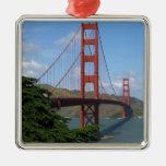 Puente Golden Gate, San Francisco Adorno Navideño Cuadrado De Metal