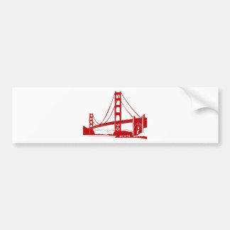 Puente Golden Gate - San Francisco CA Pegatina De Parachoque
