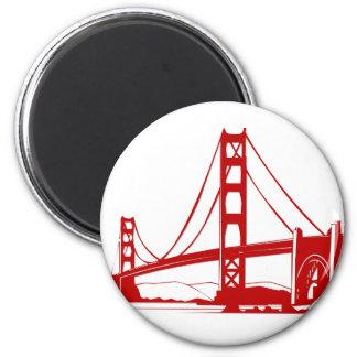 Puente Golden Gate - San Francisco, CA Imán Redondo 5 Cm