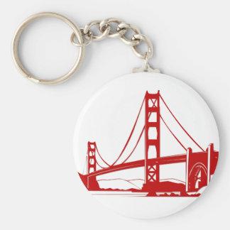 Puente Golden Gate - San Francisco, CA Llavero Redondo Tipo Pin
