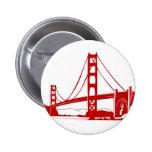Puente Golden Gate - San Francisco, CA Pin Redondo De 2 Pulgadas