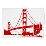 Puente Golden Gate - San Francisco, CA Tarjeta De Felicitación