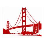 Puente Golden Gate - San Francisco, CA Tarjeta Postal