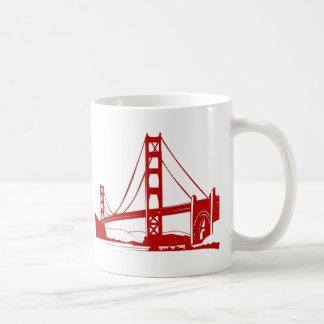 Puente Golden Gate - San Francisco, CA Taza Básica Blanca