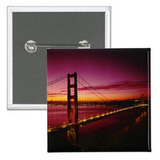 Puente Golden Gate, San Francisco, California, 5 Pin Cuadrada 5 Cm