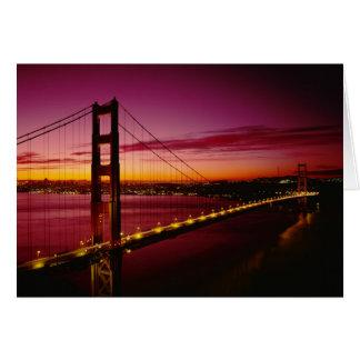 Puente Golden Gate, San Francisco, California, 5 Tarjeta De Felicitación