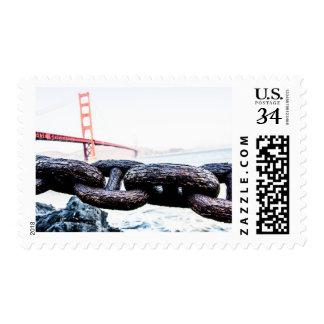 Puente Golden Gate San Francisco de la postal del Sello