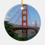 Puente Golden Gate, San Francisco Adorno Redondo De Cerámica