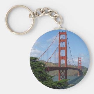 Puente Golden Gate, San Francisco Llavero Redondo Tipo Pin