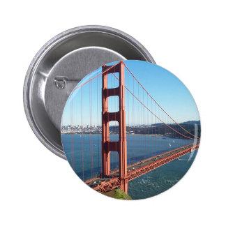 Puente Golden Gate, San Francisco Pin Redondo De 2 Pulgadas