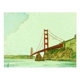 Puente Golden Gate San Francisco por el mac de Postal