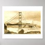 Puente Golden Gate, vintage de San Francisco Impresiones