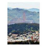 Puente Golden Gate visto de picos gemelos Tarjeta Postal