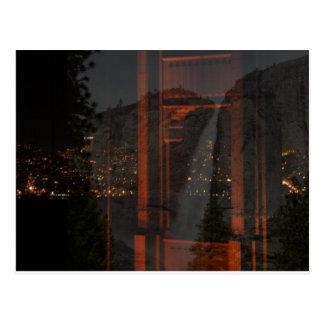 Puente Golden Gate y cascada Postales