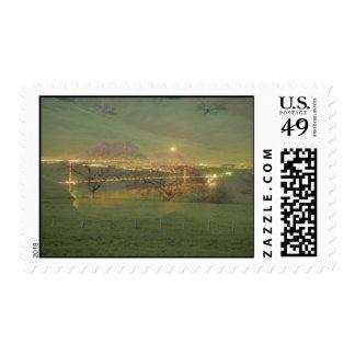 Puente Golden Gate y país del collage Sello