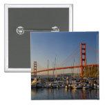 Puente Golden Gate y San Francisco 2 Pin Cuadrado