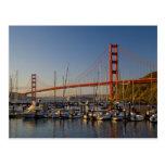 Puente Golden Gate y San Francisco 2 Postal