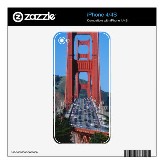 Puente Golden Gate y San Francisco Bay iPhone 4 Skins
