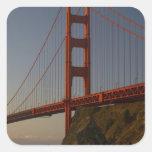 Puente Golden Gate y San Francisco Pegatina Cuadrada