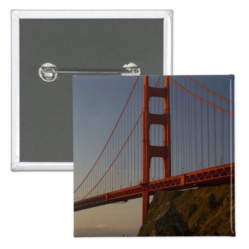Puente Golden Gate y San Francisco Pin Cuadrada 5 Cm