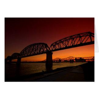 Puente grande cuatro tarjeta de felicitación