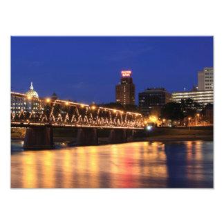 Puente Harrisburg Pennsylvania de la calle de la Fotografía