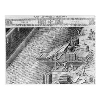 Puente hecho en la forma de un barco tarjeta postal