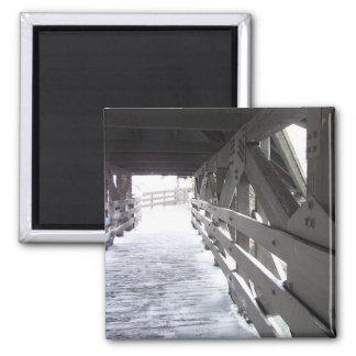 Puente helado imán cuadrado