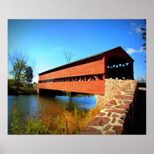 Puente histórico póster