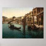 Puente I, impresión archival de Rialto de Venecia, Poster