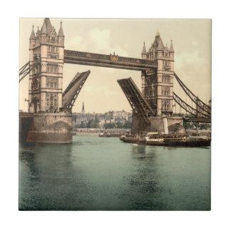 Puente I, Londres, Inglaterra de la torre Azulejo Cuadrado Pequeño