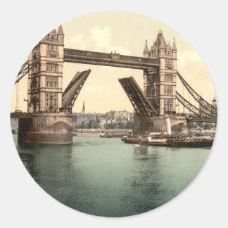 Puente I, Londres, Inglaterra de la torre Pegatina Redonda