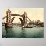 Puente I, Londres, Inglaterra de la torre Poster