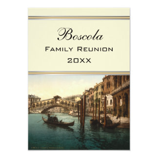 Puente I, reunión de Rialto de familia de Venecia, Invitación 12,7 X 17,8 Cm