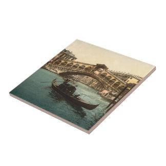 Puente I, Venecia, Italia de Rialto Azulejo Cuadrado Pequeño
