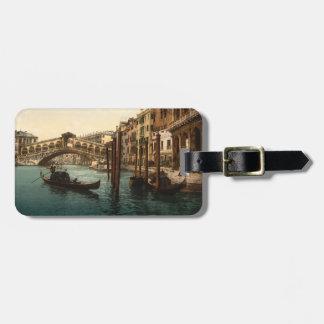 Puente I Venecia Italia de Rialto Etiqueta De Equipaje