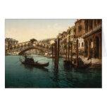 Puente I, Venecia, Italia de Rialto Felicitación