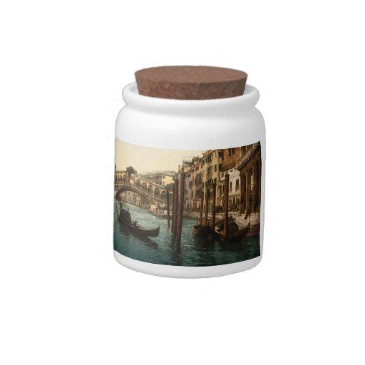 Puente I, Venecia, Italia de Rialto Jarras Para Caramelos