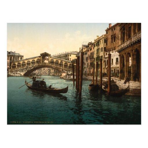 Puente I, Venecia, Italia de Rialto Postal