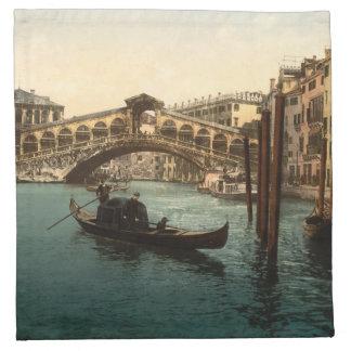 Puente I, Venecia, Italia de Rialto Servilleta