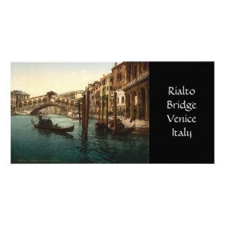 Puente I, Venecia, Italia de Rialto Tarjeta Fotográfica